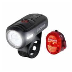 Sigma Aura 45 USB + Nugget II sprednja in zadnja svetilka za kolo, črna