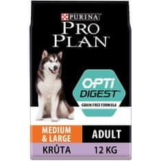Purina Pro Plan hrana za pse s piščancem Medium & Large Adult OPTIDIGEST Grain Free, 12 kg