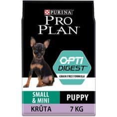 Purina Pro Plan Small & Mini Puppy Optidigest Grain Free s krůtou 7 kg
