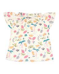 Nini dievčenské tričko z organickej bavlny ABN-2607 56 smotanová