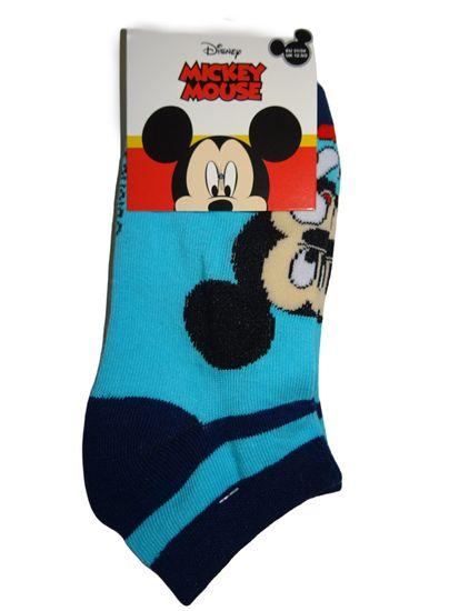 Mickey Mouse Kotníčkové modré ponožky myšákem