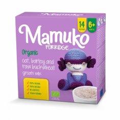 Mamuko Bio dětská kaše zelená pohanka, ječmen, oves 240g