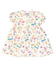 Nini dievčenské šaty z organickej bavlny ABN-2614 74 smotanová
