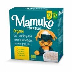 Mamuko Bio dětská kaše drcená zelená pohanka, ječmen, oves 240g