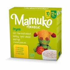 Mamuko Bio dětská kaše drcená zelená pohanka, ječmen, špalda, žito, oves 240g