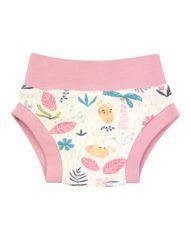 Nini ABN-2618 hlače za djevojčice od organskog pamuka, krem, 56