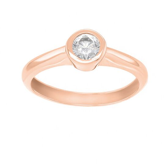 Brilio Pôvabný prsteň z ružového zlata so zirkónom SR042RAU zlato ružové 585/1000