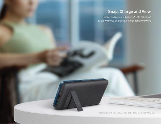 UNIQ Hyde Air Click vezeték nélküli powerbank MagSafe-el, USB-C (PD), 20W, 10000 mAh UNIQ-HYDEAIRC-DGREY