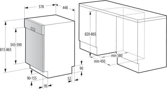Gorenje vestavná myčka GI52040X