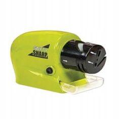 Električni brusilec nožev, škarij in izvijačev, zeleno-črn