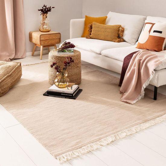Jutex Kusový koberec Blok 6001 krémovobéžový