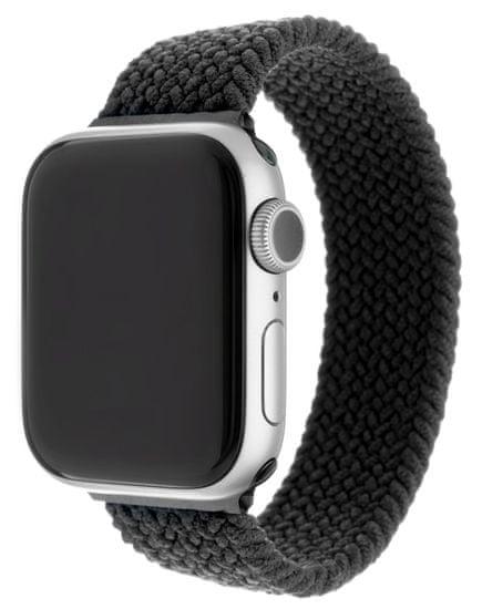 FIXED Rugalmas nylon szíj Nylon Strap pro Apple Watch 42 / 44mm, S-es méret FIXENST-434-S-BK, fekete