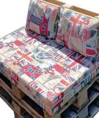 Povlečeme vše Vankúš na paletový nábytok 37x60cm