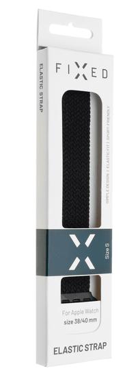 FIXED Nylon Strap remen za Apple Watch 42/44 mm, veličine XS, najlonski, crn (FIXENST-434-XS-BK)