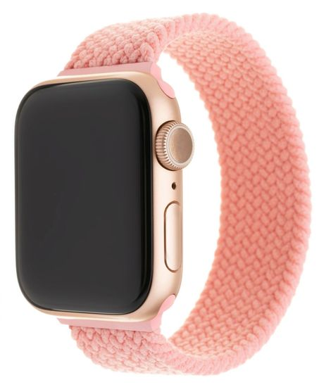FIXED Elastický nylonový remienok Nylon Strap pre Apple Watch 42/44 mm, veľkosť XS FIXENST-434-XS-PI, ružový