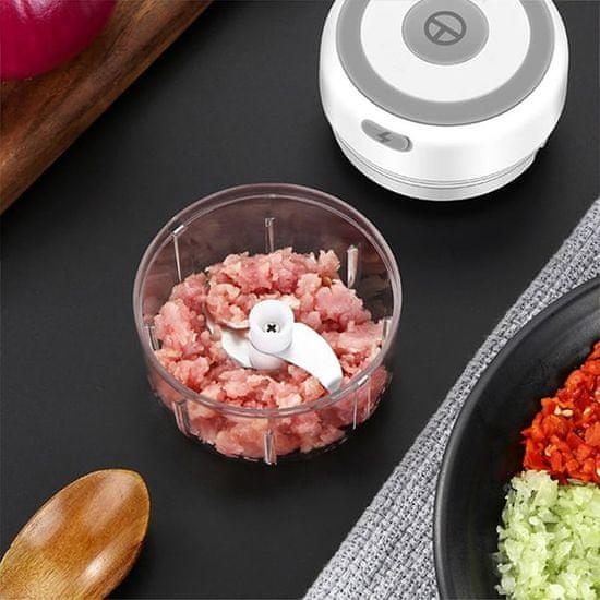 Netscroll Elektryczny rozdrabniacz z 3 ostrzami do wszechstronnego użytku w kuchni, MiniChopper