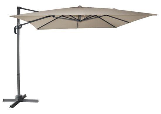 Rojaplast Slnečník CANTIELVER 270×270 cm, béžová