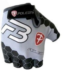 POLEDNIK Cyklistické rukavice Polednik F3 New černo-šedé vel.M