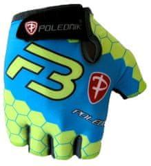 POLEDNIK Cyklistické rukavice Polednik F3 New modro-zelené vel.S