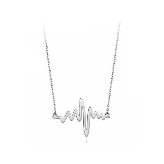 JVD ModneSrebrnynaszyjnik romantyczna krzywa EKG SVLN0016SH20045 srebro 925/1000