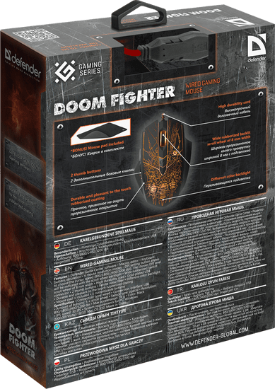 Defender Optična gaming miška Doom Fighter GM-260L