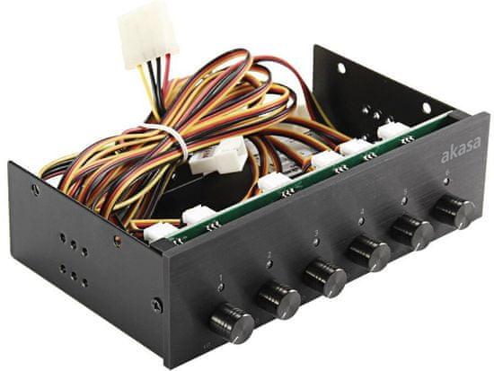 Akasa FC Six, kontrolní panel 6 ventilátorů