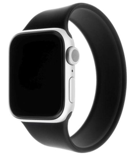 FIXED Rugalmas szilikon heveder Szilikon heveder Apple Watch 42 / 44mm, XL méretű FIXESST-434-XL-BK, fekete