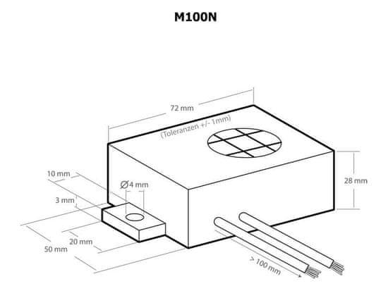 KEMO Ultrazvukový odpudzovač kún Kemo M100N 12V DC
