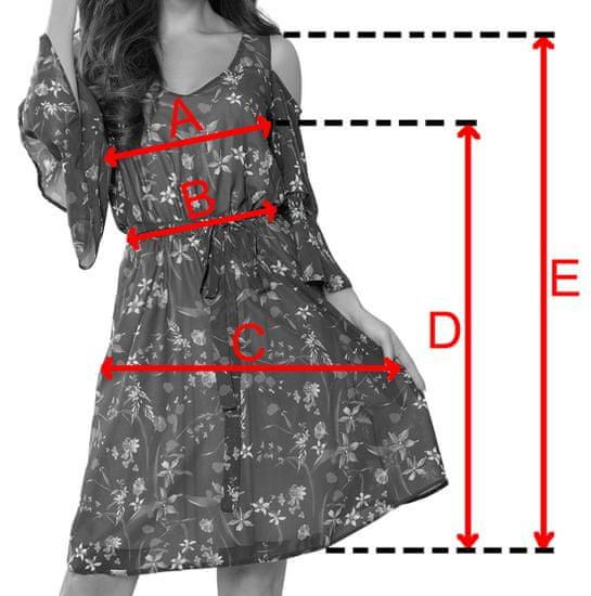 Numoco Dámske šaty 292-6 MARINA, khaki, XXL