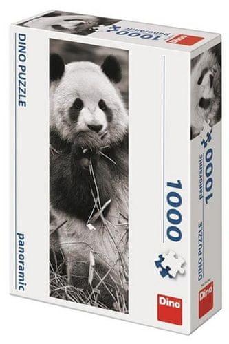 Puzzle 1000 Panda v trávě Panoramic