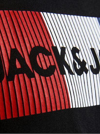 Jack&Jones Koszulka męska JJECORP 12151955Black ZAGRAJ SLIM