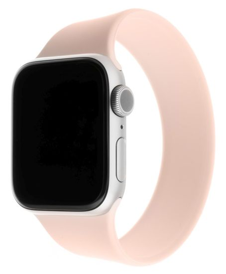 FIXED elastičen en silikonski pašček Silicone Strap za Apple Watch 38/40mm, velikost XL FIXESST-436-XL-PI, roza