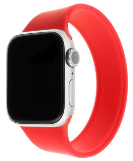 FIXED Rugalmas szilikon heveder Silicone Strap Apple Watch 38 / 40mm, XS méretű FIXESST-436-XS-RD, piros