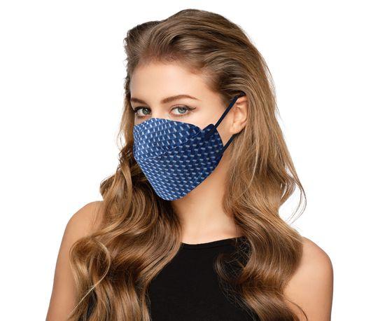 Balerina Zdravotnický nano respirátor BALERINA FFP2 FISH TYPE - Modrá kostka (č.28)