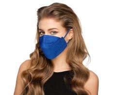 Balerina Zdravotnický nano respirátor BALERINA FFP 2 FISH TYPE - Modrý (č.105)