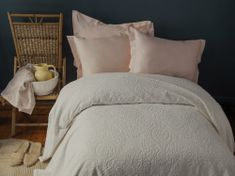 Issimo Narzuta na łóżko frotte RUMIE kolor beżowy 220x240 cm.