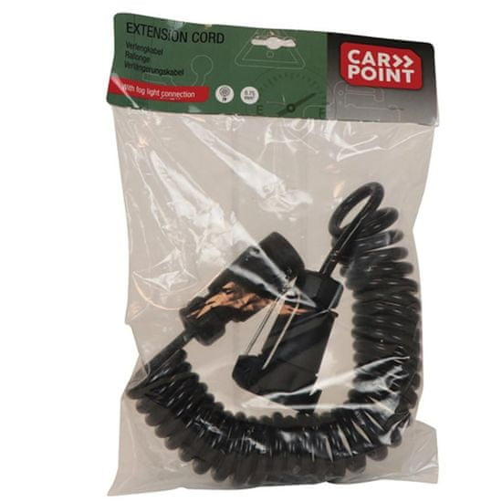 CarPoint Prodlužovací kabel do 7-pólové zásuvky tažného zařízení 12V 35-300cm - plastové koncovky
