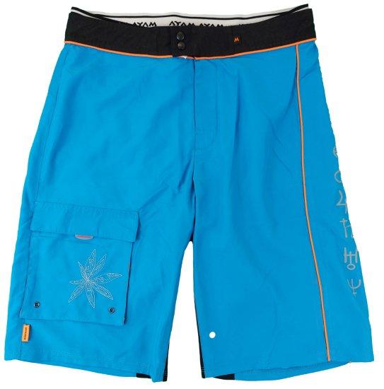 MAYA MAYA Moške bermuda hlače, kratke hlače za kopanje, surf hlače - Pirania, modre