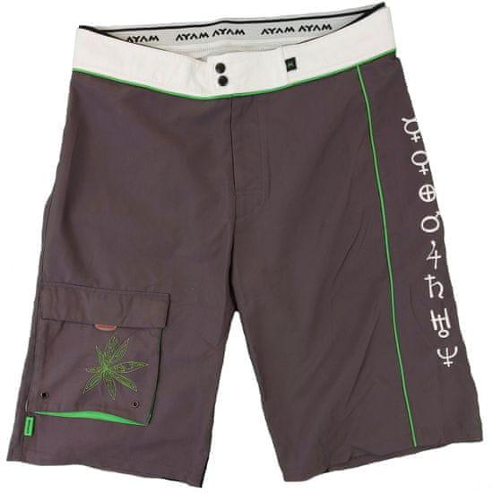 MAYA MAYA Moške bermuda hlače, kratke hlače za kopanje, surf hlače - Pirania, sive