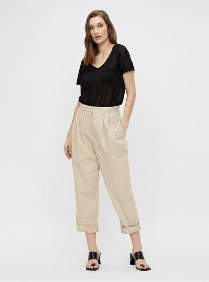 .OBJECT krémové zkrácené kalhoty Nancy