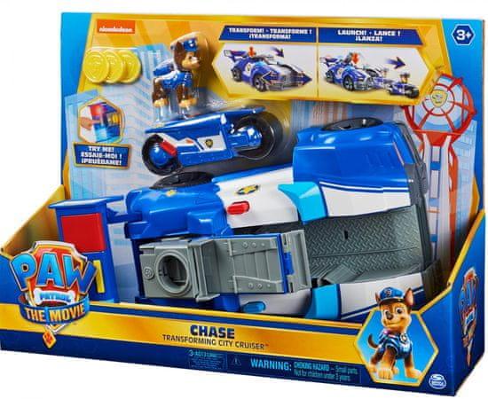 Spin Master Tlapková patrola Film Chaseovo auto s motorkou v jednom