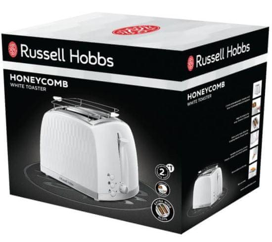 Russell Hobbs 26060-56 kenyérpirító, 2 szeletes, 6 fokozat, fehér