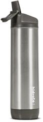 HidrateSpark - rozsdamentes acél intelligens üveg szívószállal, 620 ml, Bluetooth tracker, rozsdamentes acél