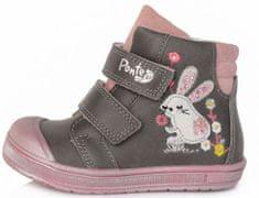 Ponte 20 dívčí kožená kotníčková obuv PP121A-DA03-1-225A 22 šedá