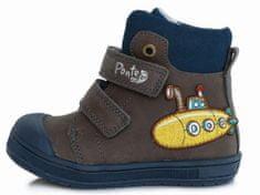 Ponte 20 chlapecká kožená kotníčková obuv PP121A-DA03-1-560A 22 hnědá