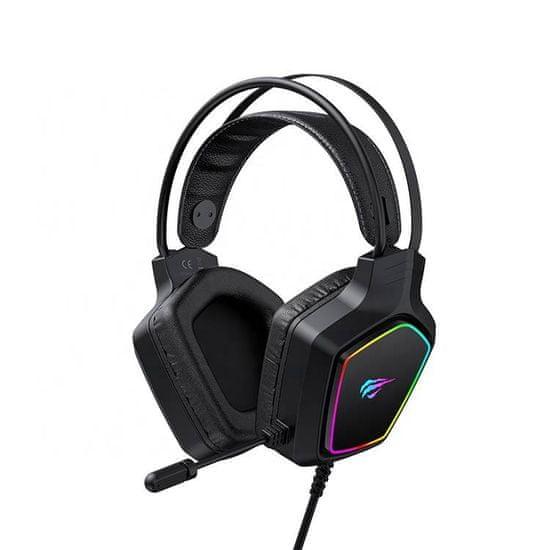 Havit Gamenote H656d RGB gaming slušalke, črna