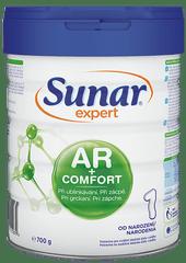 Sunar Expert AR&Comfort 1 počáteční kojenecké mléko při ublinkávání, zácpě a kolikách, 700g