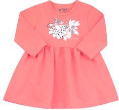 Nini dievčenské šaty z organickej bavlny ABN-2693 74 ružová