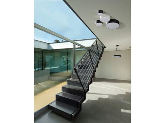 AZZARDO LED Mennyezeti és fali lámpatest Monza R 22 black AZ2263, 20 W, fekete