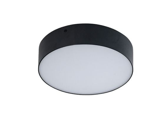 AZZARDO LED Mennyezeti és fali lámpatest Monza R 22 black AZ2262, 20 W, fekete